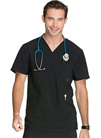 medical uniforms - mens scrubs - black