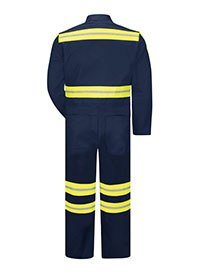 industrial workwear - hi visibility coveralls - back