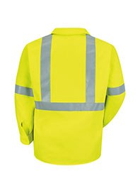 industrial workwear - hi visibility work shirts - back