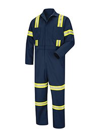 industrial workwear - hi visibility coveralls - front