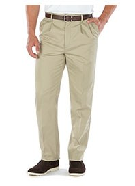 employee uniforms - hospitality apparel - men's pleated khaki pants