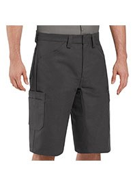 mechanic uniforms - red kap shop shorts - charcoal