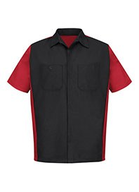 mens automotive work shirts - crew shirt