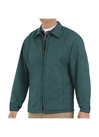 mens perma-lined panel jacket - spruce green