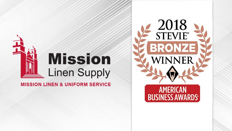 Bronze Stevie® Award. linens, uniforms, laundry services