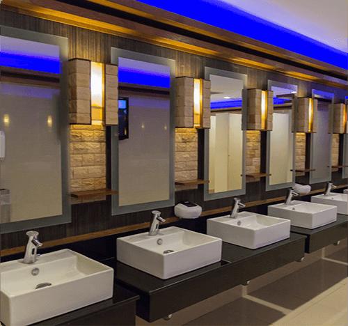chemicals restrooms