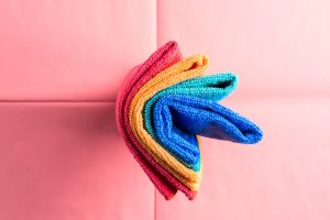 multi-colored microfiber cleaning cloths