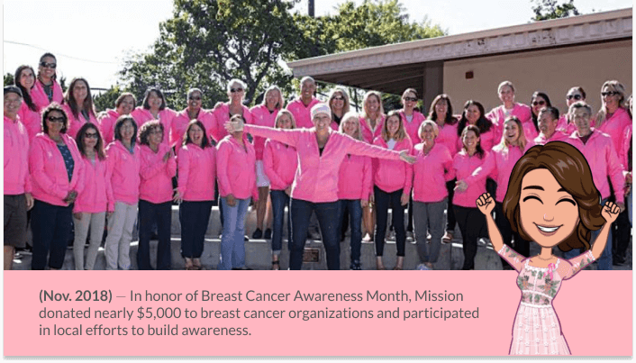 Mission Linens Pink Campaign for Breast Cancer Awareness Month 2020